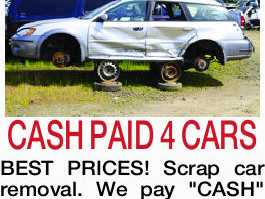 CASH PAID 4 CARS BEST PRICES!