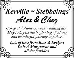 Kerville ~ StebbeingsAlex & ChezCongratulations on your wedding day. May today be...