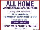 All Home Maintenance and Repairs