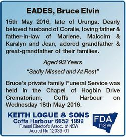 EADES, Bruce Elvin 15th May 2016, late of Urunga. Dearly beloved husband of Coralie, loving father &...