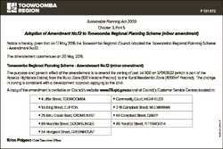P 131 872 Sustainable Planning Act 2009 Chapter 3, Part 5 Adoption of Amendment No.12 to Toowoomba R...