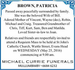 BROWN, PATRICIA