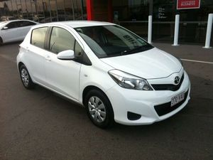 2014 Toyota Yaris NCP130R YR White 4 Speed Automatic Hatchback