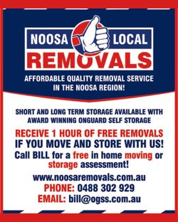 Removalists Affordable Quality removal service in the Noosa Region
