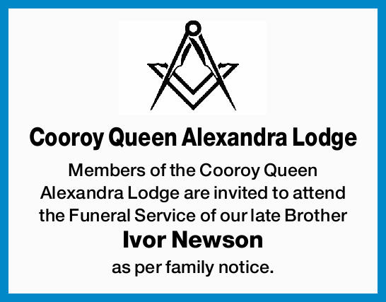 Members of the Cooroy Queen Alexandra Lodge are invited to attend the Funeral Service of ou...