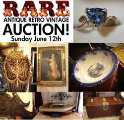 SUNDAY JUNE 12th. RARE Emporium Montville is having a massive clearance auction . Furniture, decor,...