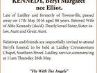 KENNEDY, Beryl Margaret nee Elliot