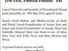 "DWYER, Patricia Pauline ""Pat"""
