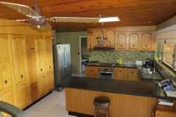 Secondhand kitchen * Tasmanian Oak Cupboard draws & doors * 6mm stone overlay bench tops * Westingho...