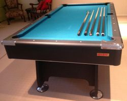 In excellent condition with cues and balls. Only selling as moving interstate.