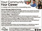 Your Community Your Career A career with Council is a rewarding one General Manager Regional Services Are you a strong leader with vision, strategic direction and a passion for working for a region which is undergoing a transformation and embracing its role as the economic heart of Central Queensland? Technical ...