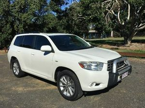 2009 Toyota Kluger GSU40R Altitude White Sports Automatic Wagon