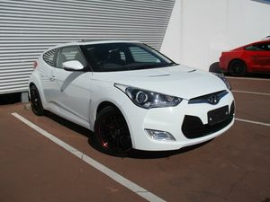 2012 Hyundai Veloster FS Coupe White 6 Speed Manual Hatchback