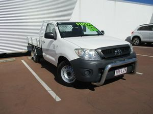 2009 Toyota Hilux TGN16R MY09 Workmate White 4 Speed Automatic Cab Chassis