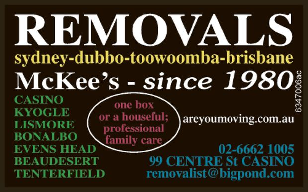 McKee's since 1980    All local moves   Sydney - Dubbo - Toowoomba - Brisbane...