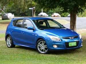 2009 Hyundai i30 FD MY09 SR Blue 5 Speed Manual Hatchback