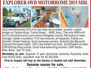 EXPLORER 4WD MOTORHOME 2015 MDL