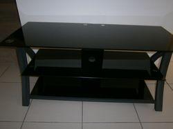 Smokey glass VGC 110cm L 45cm W 50cm H