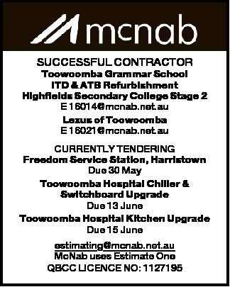 SUCCESSFUL CONTRACTOR Toowoomba Grammar School ITD & ATB Refurbishment Highfields Secondary C...