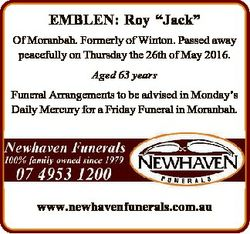 "EMBLEN: Roy ""Jack"" Of Moranbah. Formerly of Winton. Passed away peacefully on Thursday the..."
