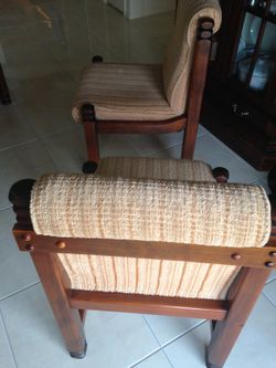 Solid Timber Chairs with Bone Cloth. Will sell separately $15 each