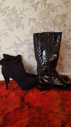 Two pairs, small boots size 10 and other size 38 both in good condition only worn once. Will separat...