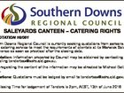 6351562aa SALEYARDS CANTEEN - CATERING RIGHTS REQUEST FOR QUOTATION 16/081 Description: Southern Downs Regional Council is currently seeking quotations from persons or firms interested in providing a quality catering service to meet the requirements of clientele at its Warwick Saleyards. The new agreement will commence as soon as practical after ...