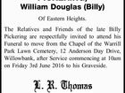 PICKERING, William Douglas (Billy)
