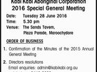 i Kabi Aboriginal Corporation 2016 Special General Meeting