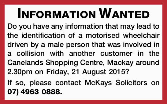 Information Wanted Do you have any information that may lead to the identification of a motorised...