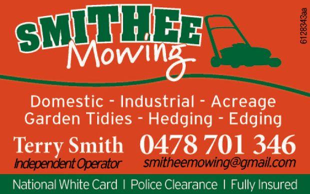 Domestic  Industrial  Garden Tidies  Hedging  Edging   Terry Smith 04...