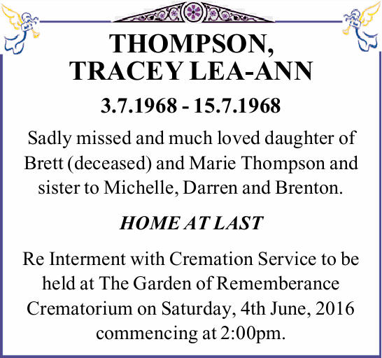 THOMPSON, TRACEY LEA-ANN 