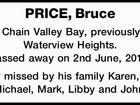 PRICE, Bruce