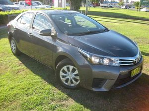 2014 Toyota Corolla ZRE172R Ascent Grey 7 Speed CVT Auto Sequential Sedan