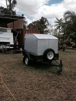 6X4 enclosed trailer,  with jockey wheel, spare wheel & tyre,  vgc,  regd...