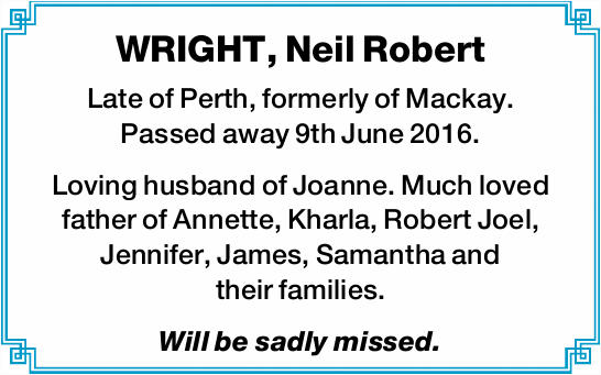WRIGHT, Neil Robert 
