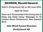 DAWSON, Ronald Howard.