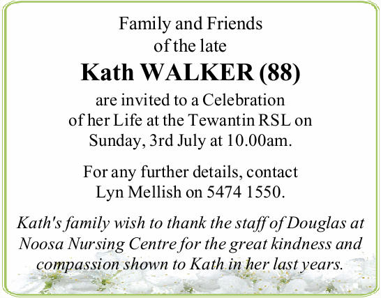 Family and Friends of the late