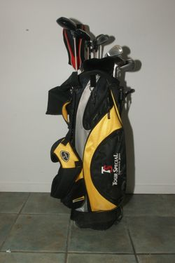 Full set Ladies Golf clubs custom made graphite shafts 5 woods and 8 irons + carry bag