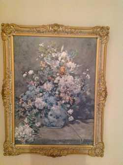 Gilt frame, floral arrangement, perfect condit. photo on-line