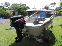 3.5m Tinnie,15HPMercury Motor Only on 3rd tank of fuel, Galvanised trailer, Hummingbird sounder. Tra...