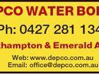 DEPCO WATER BORES Ph: 0427 281 134 Rockhampton & Emerald Areas Web: www.depco.com.au Email: office@depco.com.au