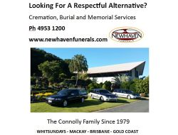 Newhaven Funerals Family Owned, Caring for Qld Families since 1979 Phone: 49531200 www.newhavenfu...