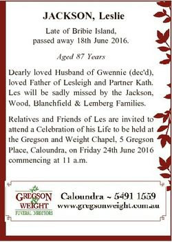 JACKSON, Leslie Late of Bribie Island, passed away 18th June 2016. Aged 87 Years Dearly loved Husban...