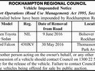 ROCKHAMPTON REGIONAL COUNCIL Vehicle Impounded Notice