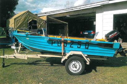 3.4M BLUE FIN 15hp Mercury new, flooring & carpeted, full canopy, boat & trailer all reg,...