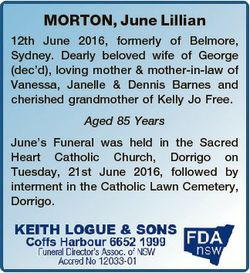 MORTON, June Lillian 12th June 2016, formerly of Belmore, Sydney. Dearly beloved wife of George (dec...