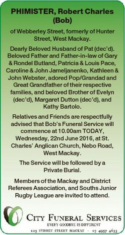 PHIMISTER, Robert Charles (Bob) of Webberley Street, formerly of Hunter Street, West Mackay. Dearly...