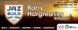 6291730ab QBCC No# 1282628 Barry: 0420 718 788 Jannean: 0452 558 788 e: jazreno@live.com.au Barry Ha...