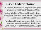 SAVIO, Marie 'Tosca'